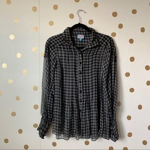Plenty By Tracy Reese Plaid Silk Top
